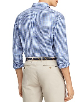 Polo Ralph Lauren - Gingham Classic Fit Linen Shirt