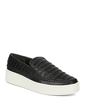 new product 8361a dca18 Vince - Women s Stafford Woven Leather Platform Slip-On Sneakers ...