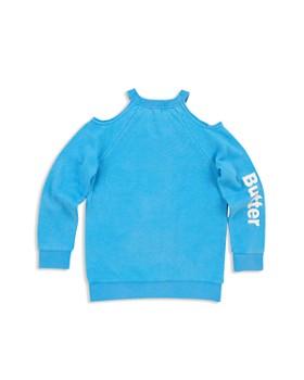 Butter - Girls' Cold Shoulder Psychedelic Sweatshirt - Little Kid, Big Kid