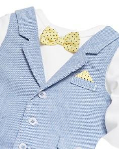 Little Me - Boys' 3-Piece Bowtie Bodysuit, Vest & Pants Set - Baby