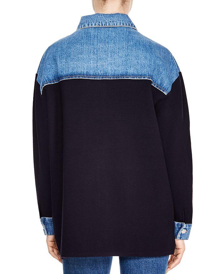 ffa27a64d6637c Sandro - Gwenaelle Contrast-Denim Jacket