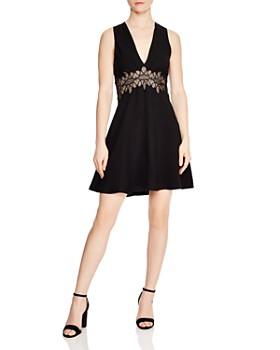 Sandro - Elena Lace-Detail A-Line Dress