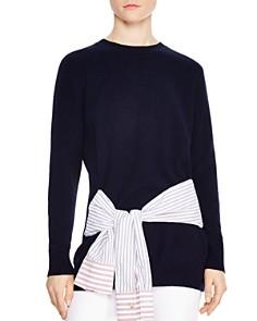 Sandro - Suzanne Wool & Cashmere Tie-Detail Sweater