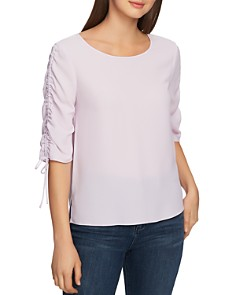 1.STATE - Ruched-Sleeve Blouse