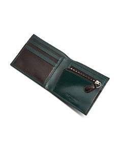 Ted Baker - Stozip Contrast Leather Bifold Wallet with Zip Coin Pocket