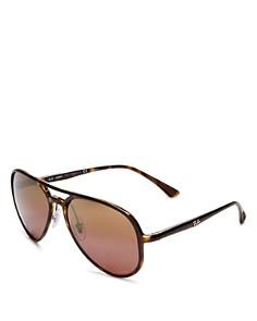 Ray-Ban - Unisex Mirrored Brow Bar Aviator Sunglasses, 58mm