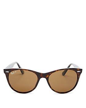 Ray-Ban - Women's Polarized Round Sunglasses, 55mm