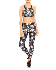 Terez - Metallic Star Print Sports Bra