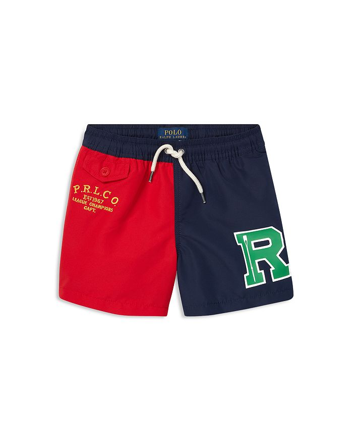 16a6622b2 Ralph Lauren Boys  Color-Blocked Traveler Swim Trunks - Little Kid ...