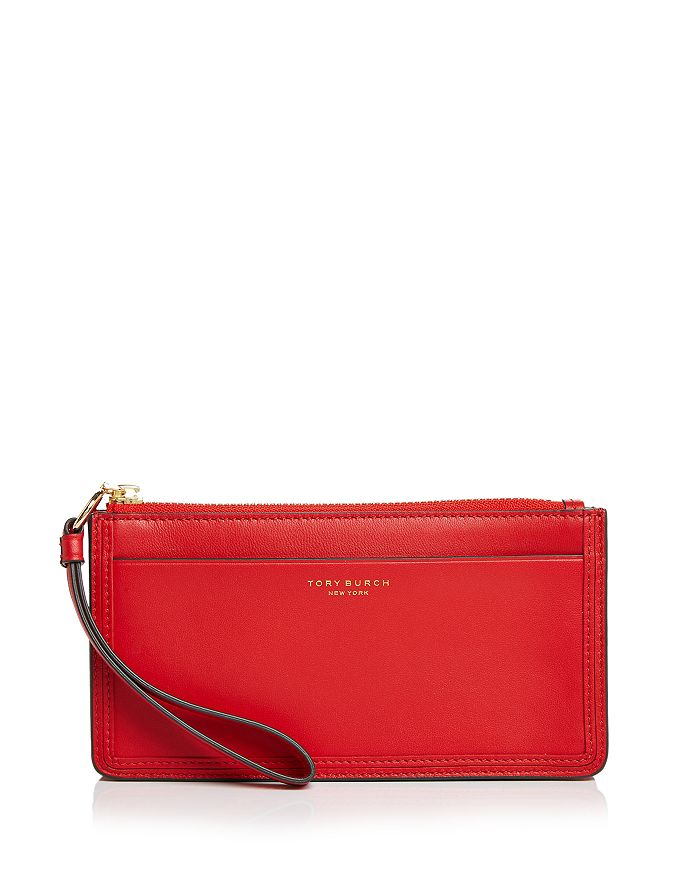 e5f3f72416c Tory Burch - Perry Leather Zip Wristlet
