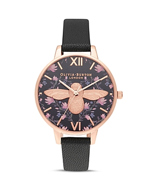 Olivia Burton Meant to Bee Black Dial Watch, 34mm
