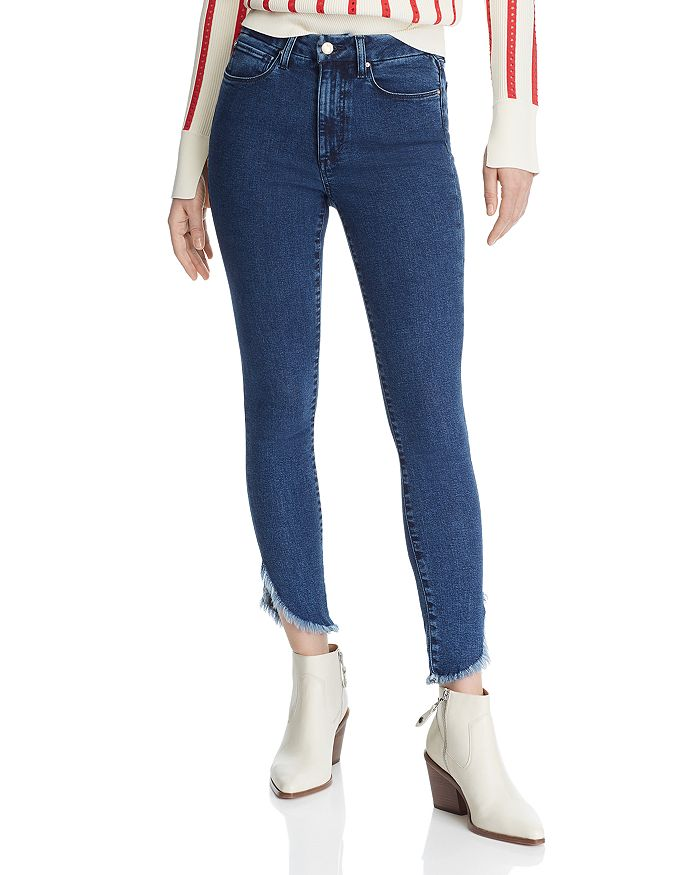 Joe's Jeans - Hi Honey Ankle Frayed-Hem Skinny Jeans in Mabry