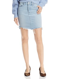 Hudson - Lulu Cutoff Denim Mini Skirt in Authenticity