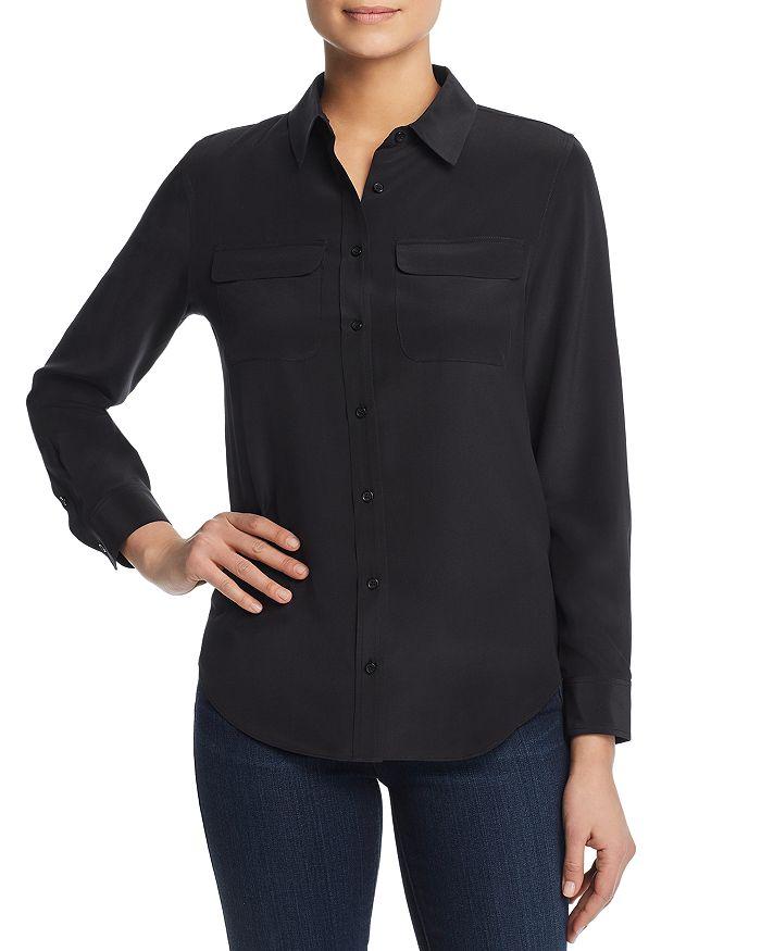 4146194a33 Relative Pi - Silk Flap-Pocket Shirt