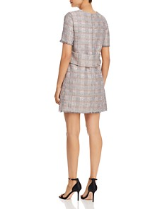 Emporio Armani - Fringed Metallic Check-Pattern Dress