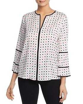5be1bbb0ff885 Donna Karan - Piped Dot-Print Top ...