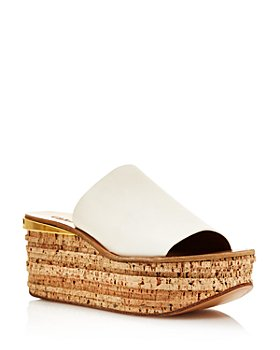 Chloé - Women's Camille Leather Wedge Sandals