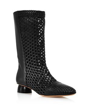 Salvatore Ferragamo - Women's Tarsinavit Woven Leather Mid-Calf Boots