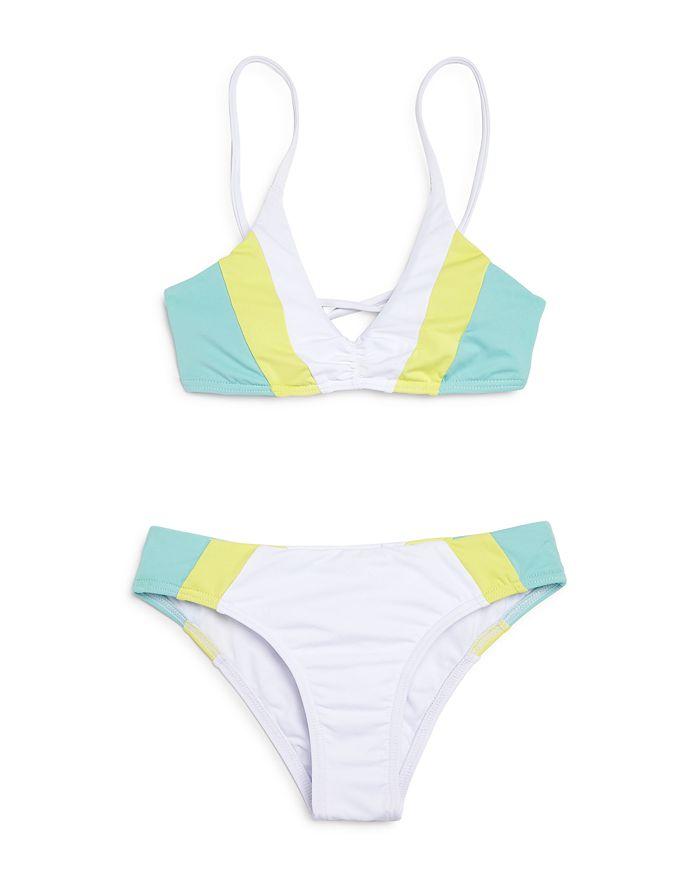 L*Space - Girls' Color-Block Little Yassi Two-Piece Swimsuit - Little Kid, Big Kid