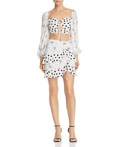 For Love & Lemons - Lucia Keyhole Cropped Top