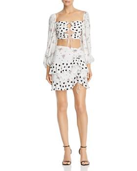 b6d5aea68746c For Love   Lemons - Lucia Keyhole Cropped Top   Mini Skirt