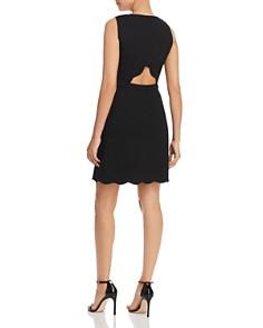 kate spade new york - Sleeveless Scalloped Ponte-Knit Dress