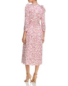kate spade new york - Striped Floral-Print Midi Dress