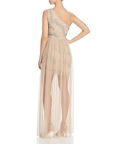 Aidan by Aidan Mattox - Embellished One-Shoulder Gown