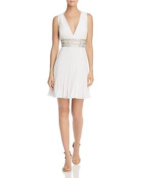 BCBGMAXAZRIA - Pleated Georgette Dress ... b02af1282daf