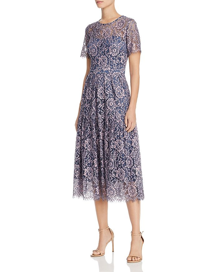 16003bebc Eliza J Short Sleeve Fit & Flare Lace Dress | Bloomingdale's