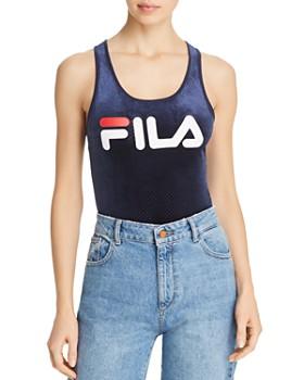 83e83f70f39 FILA - Lupita Logo Velour Bodysuit ...