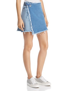 c1333341ea9ec HUE - Asymmetrical Denim Skirt ...