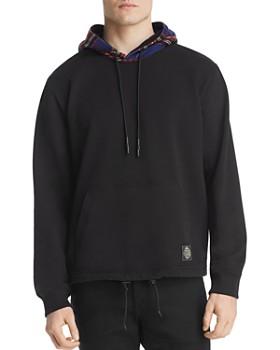 McQ Alexander McQueen - Mixed-Media Hooded Sweatshirt
