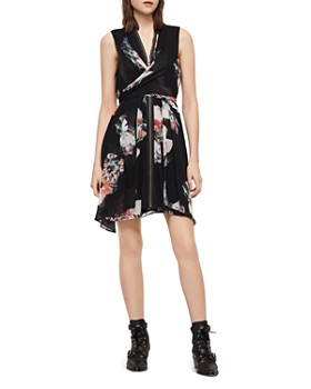 ac0e99067fb5 ALLSAINTS - Jayda Floral-Print Zip-Front Dress - 100% Exclusive ...