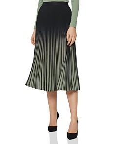 REISS - Marlie Pleated Ombré Skirt