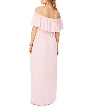 Ingrid & Isabel - Maternity Off-the-Shoulder Maxi Dress