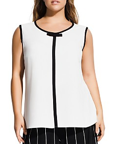 City Chic Plus - Sleeveless Bow-Neck Top