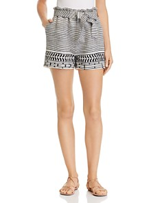 Lemlem - Maya Embroidered Shorts