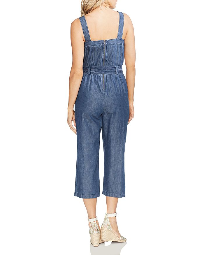 1ab276dfdc8f VINCE CAMUTO - Sleeveless Cropped Denim Jumpsuit