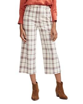 Maje - Persio Cropped Plaid Pants
