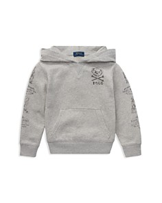 Ralph Lauren - Boys' Polo Bear French Terry Graphic Hoodie - Little Kid