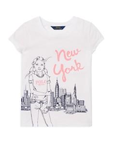 Ralph Lauren - Girls' New York Graphic Tee - Big Kid