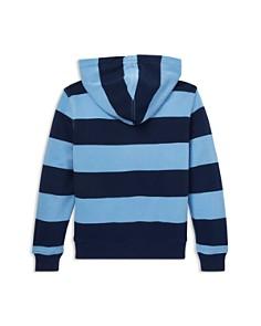 Ralph Lauren - Boys' Stripe Cotton French Terry Zip-Up Hoodie - Big Kid