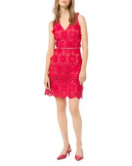MICHAEL Michael Kors - Floral Appliqué Lace Dress