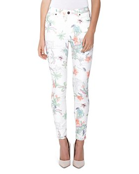 Parker Smith - Ava Floral-Print Skinny Jeans in Tropics