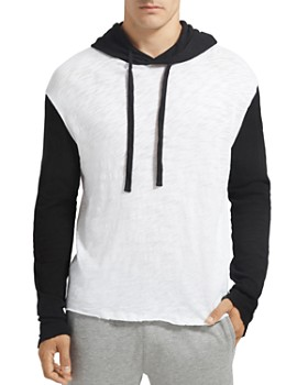 ATM Anthony Thomas Melillo - Hooded Slub-Knit Color-Block Sweatshirt