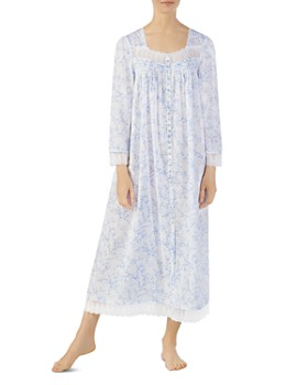 2049751e45b3 Eileen West - Ballet Button-Front Long Sleeve Nightgown ...