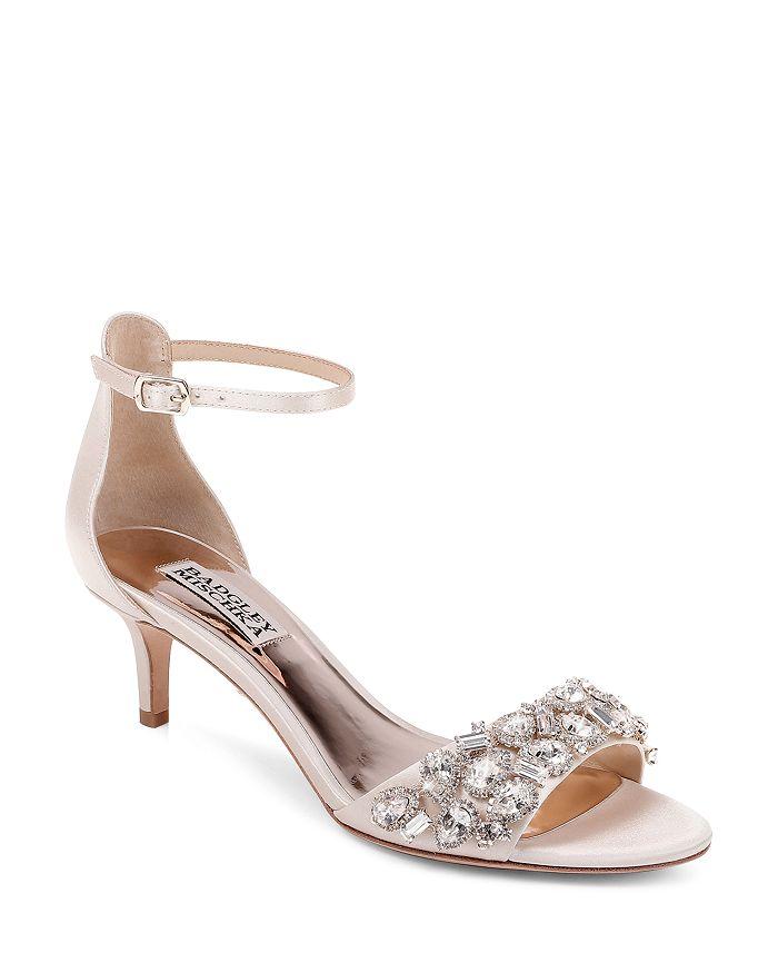 Badgley Mischka - Women's Lara Embellished Kitten Heel Sandals