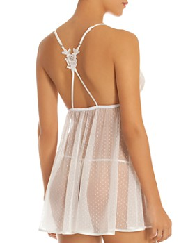 In Bloom by Jonquil - Lacy Point D'Esprit Babydoll Chemise