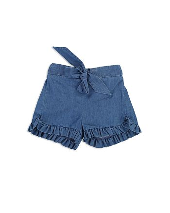 Chloé - Girls' Ruffled Denim Shorts - Baby